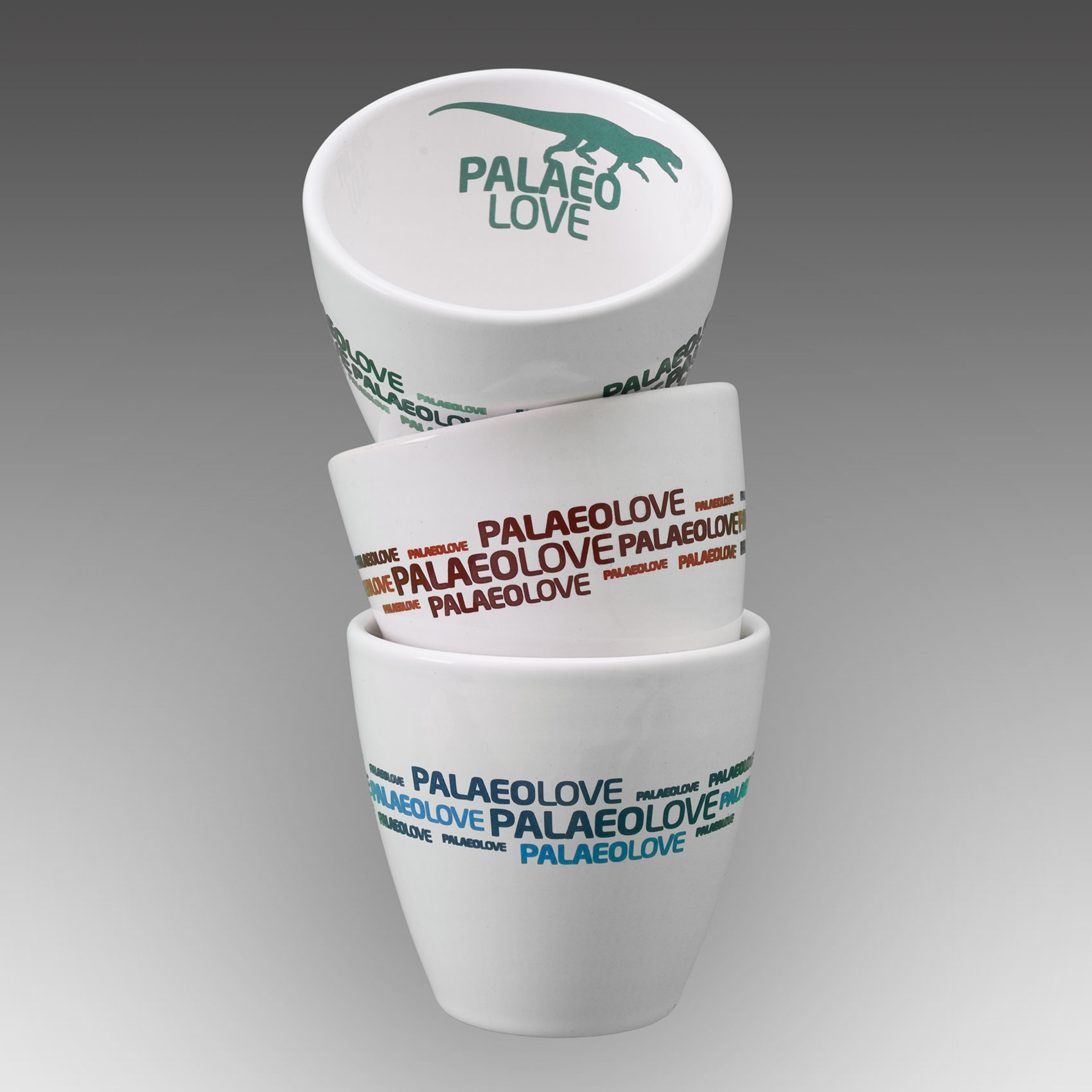3 latte cups mixed colours palaeolove switzerland
